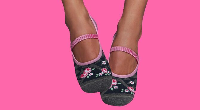 Calcetines de Yoga y Pilates - Romantic   Calcetines Antideslizantes 7fed57eeb15f