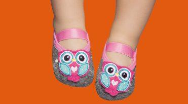 Calcetines con suela de goma bebe - Búho