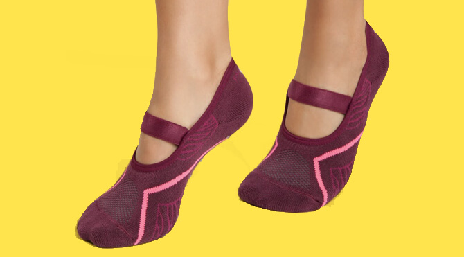 Calcetines Pilates mujer – Burdeos. Calcetines Antideslizantes   ... a9f0920294b6