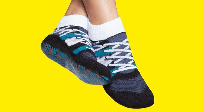 Calcetines antideslizantes estampado deportivas