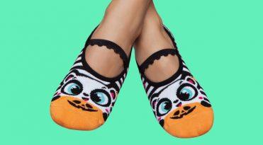 Calcetines antideslizantes – osito Halloween