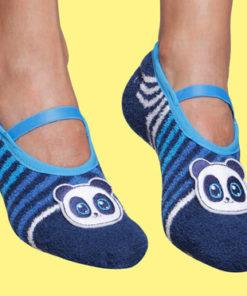 Calcetines con suela antideslizante aplique Oso Panda