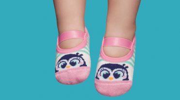 Calcetines con suela de goma bebe - Pingüinos