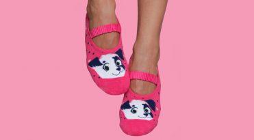Calcetines para Pilates mujer estampado perrito