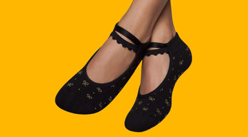 Calcetines antideslizantes pilates negro