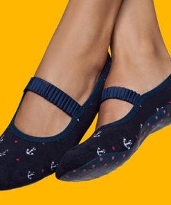 Calcetines con suela para mujer