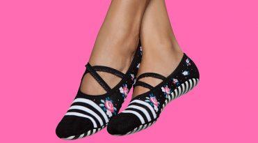 Zapatillas Pilates blanco y negro