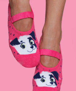 Calcetines para Pilates mujer - estampado perrito